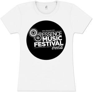 Essence Music Festival Women's Black Bubble Logo Tee