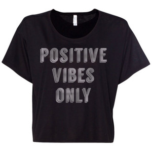 Women's Positive Vibes Boxy Crop Tee
