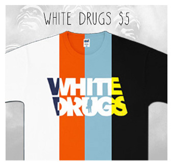 Mariachi El Bronx White Drugs T-Shirts