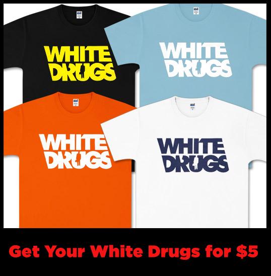 Bronx White Drugs T-Shirt Sale