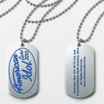 American Idol Live! 2013 Logo Dog Tag Necklace