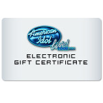 American Idol Live Electronic Gift Certificate