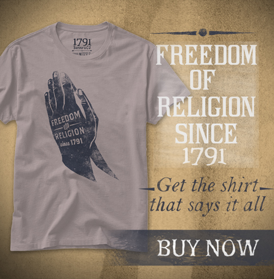 1791 Freedom of Religion