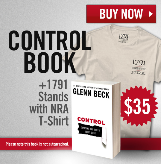 Glenn Beck Control Book + NRA Shirt