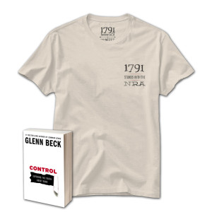 1791Control Book and Stand with NRA T-Shirt
