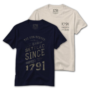 1791 Stands with the NRA and Gun Debate Settled since 1791 T-Shirt Bundle
