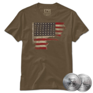 1791 D-Day Flag Coin and T-Shirt Bundle
