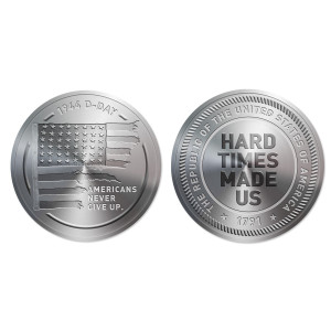 1791 D-Day Flag Hard Times Made Us Coin