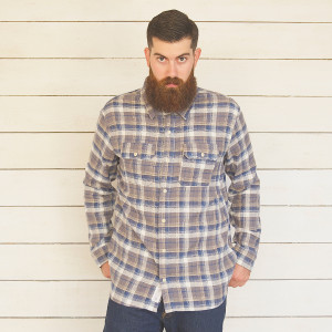 1791 Cotton Windowpane Flannel Shirt