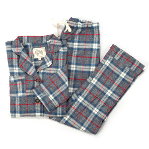 Clara Janssen Women's Adirondack Grey Plaid Pajamas