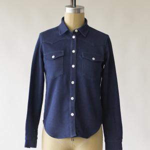 1791 Women's Indigo Knit Western Shirt
