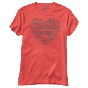 1791 Women's Pattern Heart T-Shirt