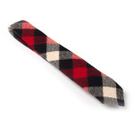 Red | White | Black Buffalo Check Wool Tie - 3""