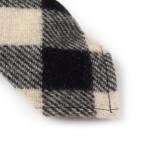 "White | Black Buffalo Check Wool Tie - 3"""