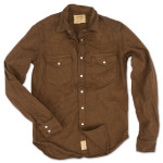 1791 Brown Washed Canvas Western Shirt