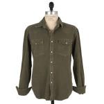 1791 Olive Washed Canvas Western Shirt