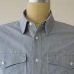 1791 Bedford Herringbone Blue Work Shirt