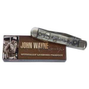 John Wayne Smooth Natural Bone Laser Embellished Trapper Knife