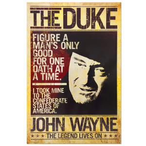 John Wayne Duke Poster