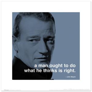 John Wayne Right 16x16inch Art Print