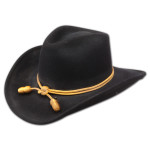 """John Wayne Collection - """"The Fort"""" (Crushable) Replica Wool Black Hat"""