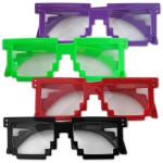 Electric Zoo Pixel Eyewear Clear Lens Sunglasses