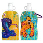Electric Zoo Animals Water Bottle