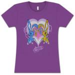 Electric Zoo Purple Bunnies Ladies T-Shirt