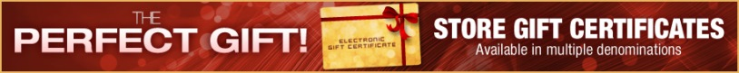 The perfect gift! Electronic gift certificates!