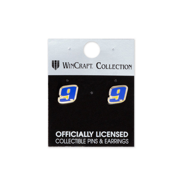 Chase Elliott 9 2018 Nascar Earrings