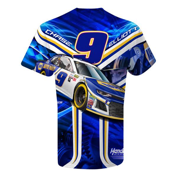 Chase Elliott T Shirt >> Chase Elliott 9 Napa Total Print T Shirt Shop The Hendrick