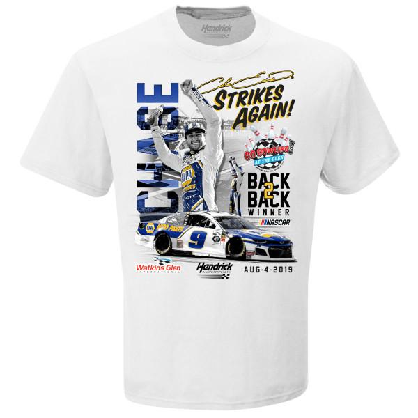 Chase Elliott T Shirt >> Chase Elliott Gobowling At The Glen Win T Shirt Shop The