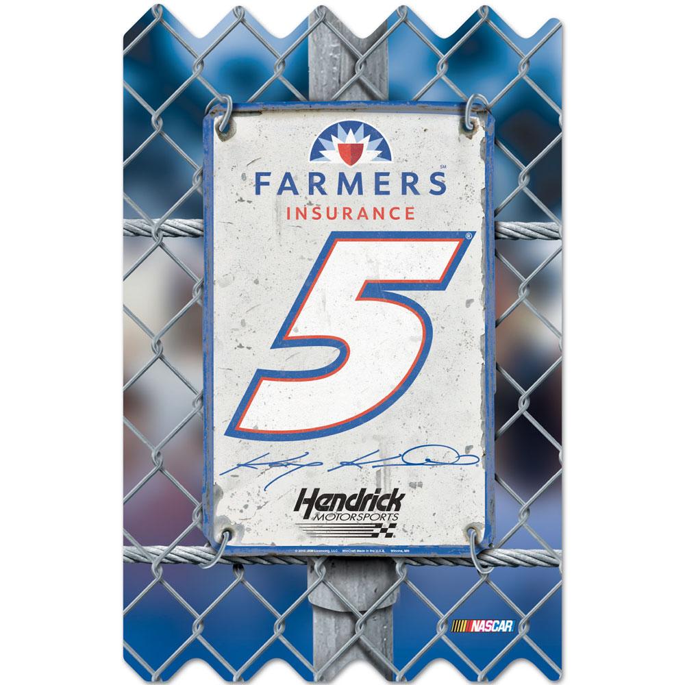 "Kasey Kahne #5 Wood Fence 11"" x 17"""