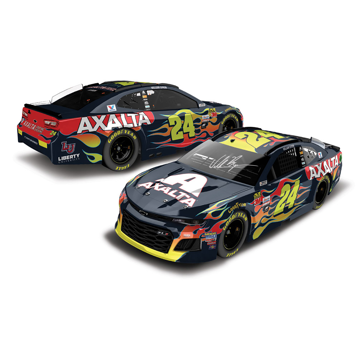 AUTOGRAPHED William Byron 2018 NASCAR Cup Series No. 24 Axalta HO 1:24 Die-Cast