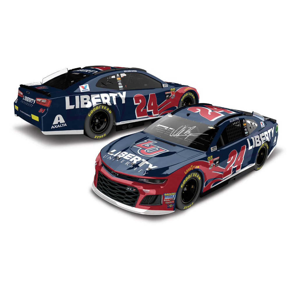 AUTOGRAPHED William Byron 2018 NASCAR Cup Series No. 24 Liberty University HO 1:24 Die-Cast