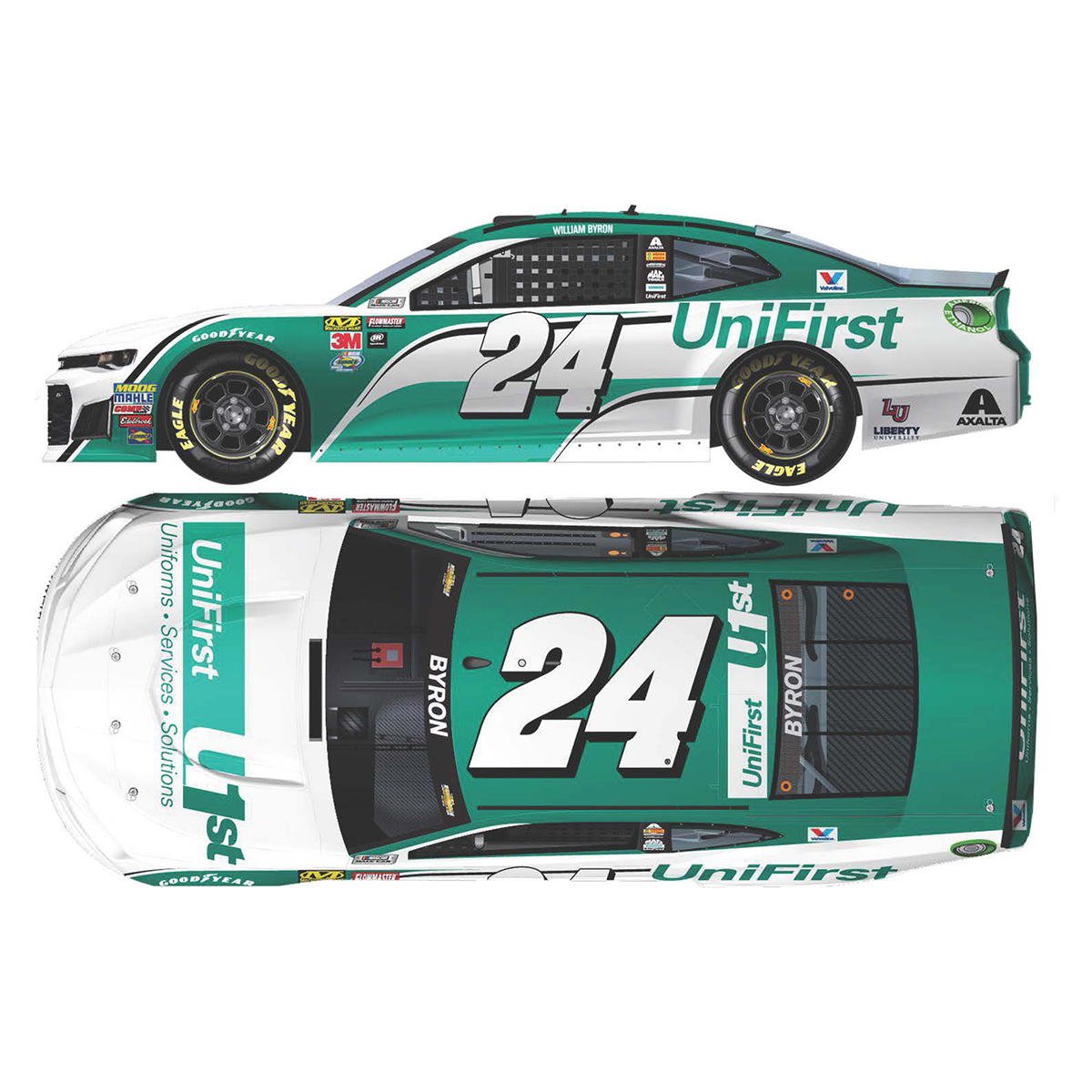 William Byron 2018 NASCAR Cup Series No. 24 UniFirst ELITE 1:24 Die-Cast