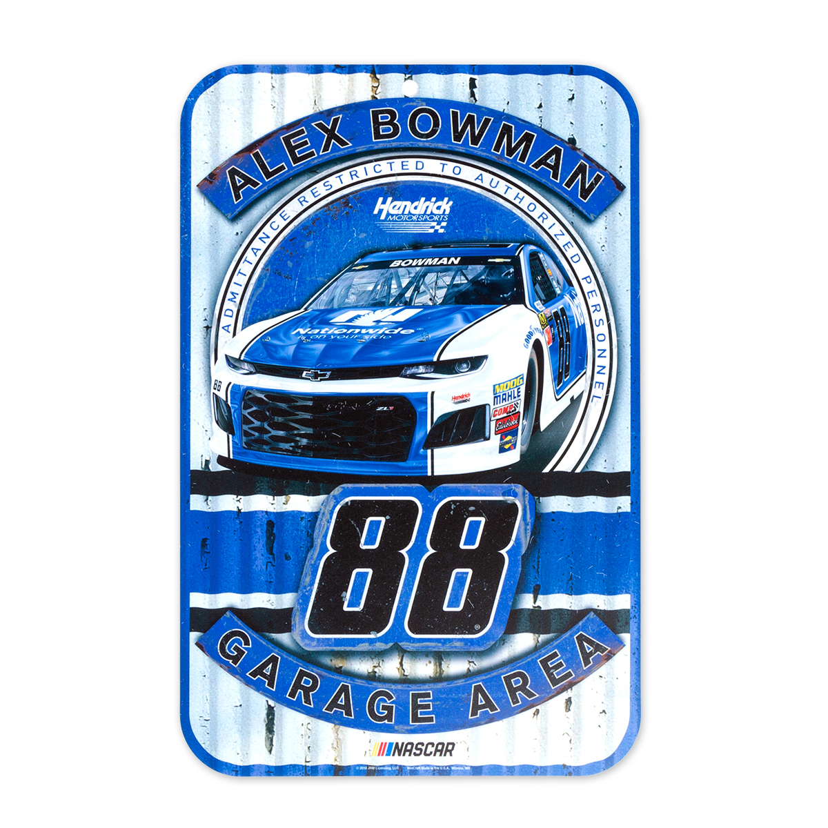 "Alex Bowman #88 2018 NASCAR Plastic Sign - 11"" x 17"""