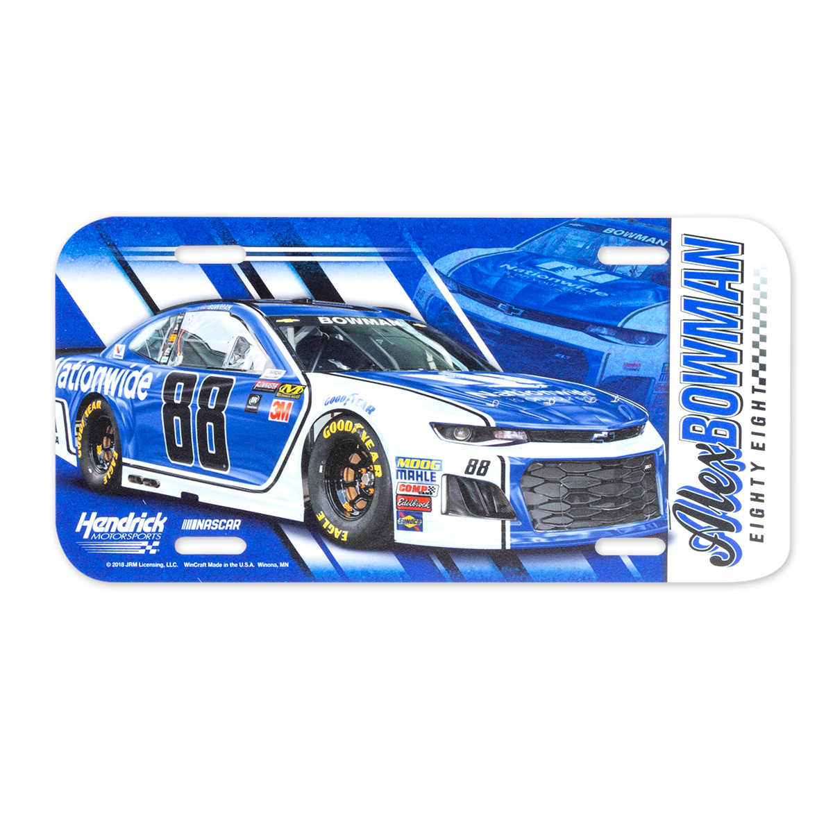 Alex Bowman #88 2018 NASCAR License Plate