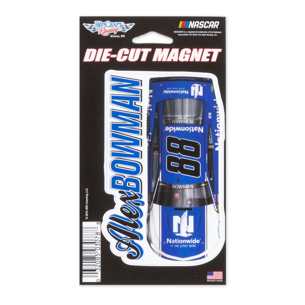 """Alex Bowman #88 2018 NASCAR Die-Cut Magnet - 3"""" x 5.4"""""""