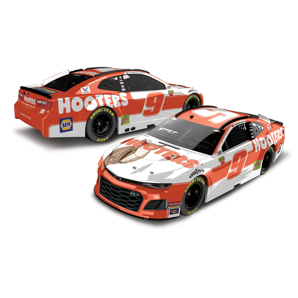 Chase Elliott #9 2019 NASCAR Hooters 1:64 - Die Cast