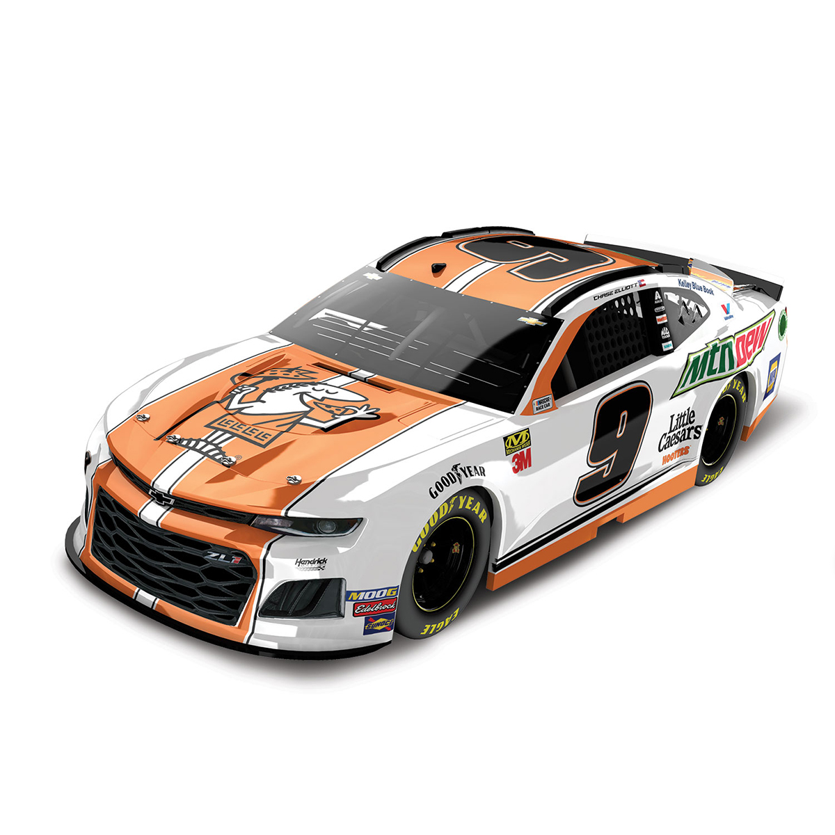 Chase Elliott 2019 #9 NASCAR Little Caesars/Mountain Dew HO 1:24 - Die Cast