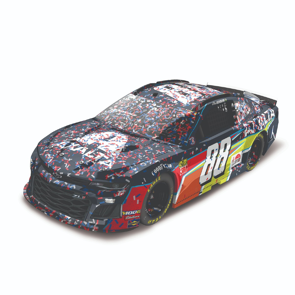 Alex Bowman NASCAR Camping World 400 Race Win 1:24 ELITE Die-Cast