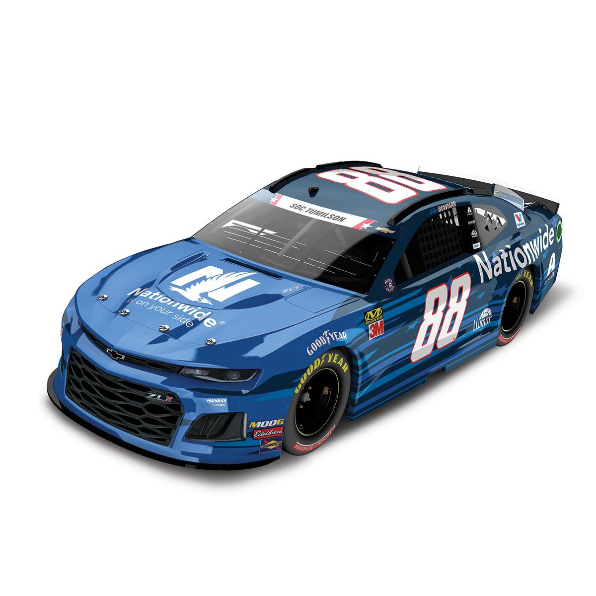 Alex Bowman 2019 #88 NASCAR Nationwide Patriotic Elite 1:24 - Die Cast