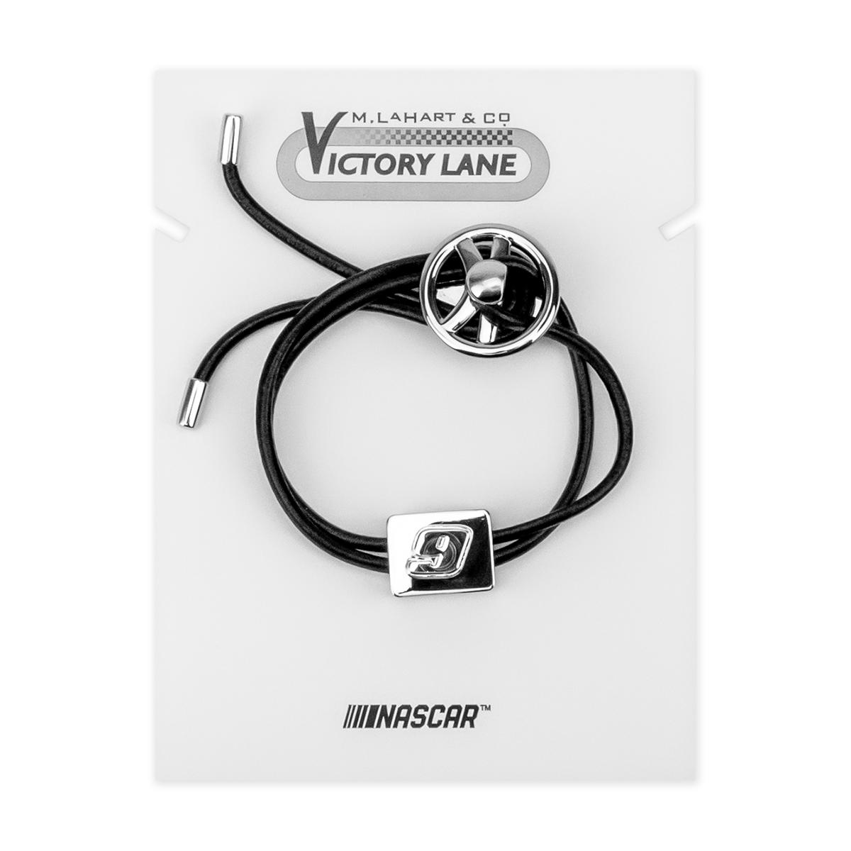 Chase Elliott Leather Cord Bracelet with Steering Wheel
