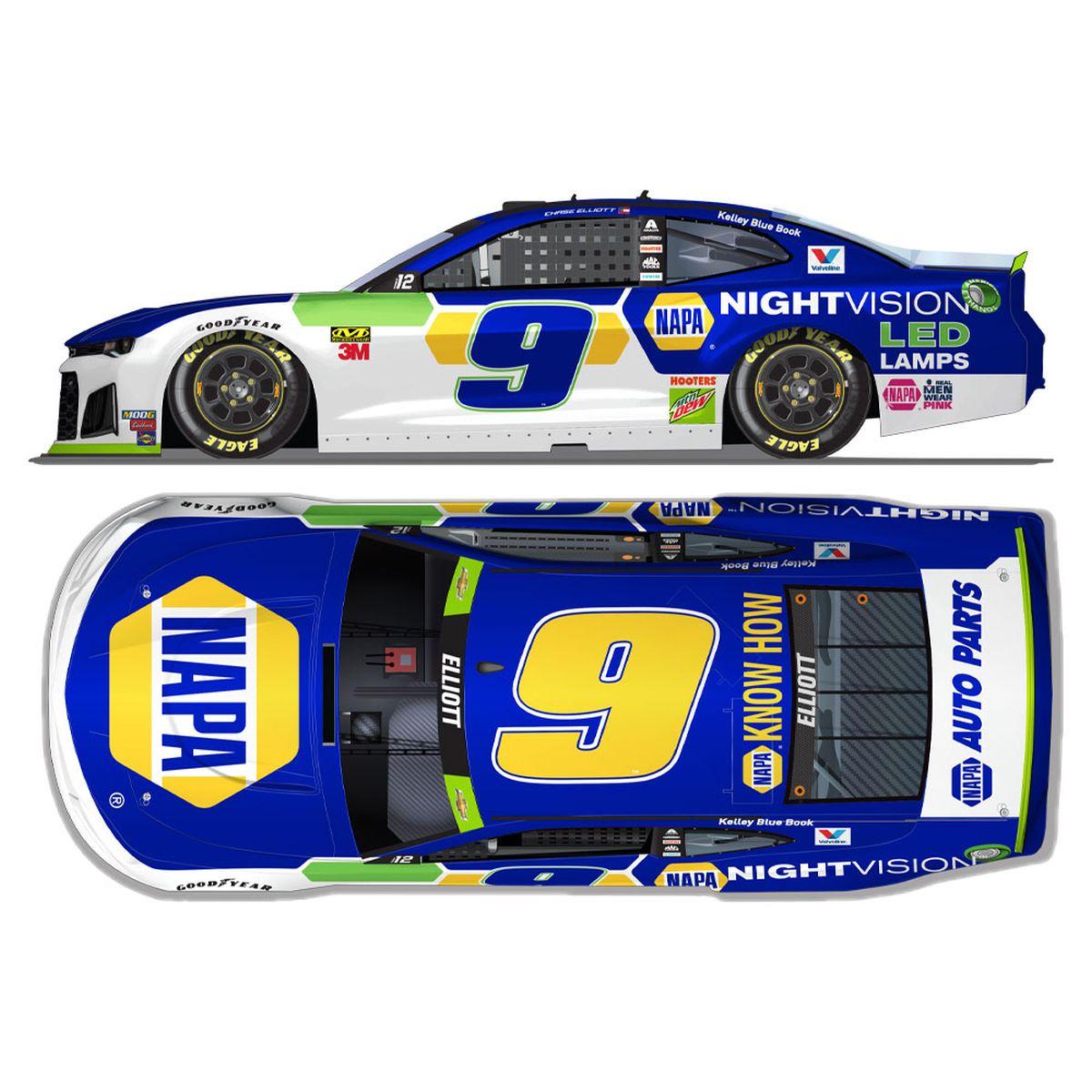 Chase Elliott #9 2019 Napa Nightvision NASCAR HO 1:24 - Die Cast