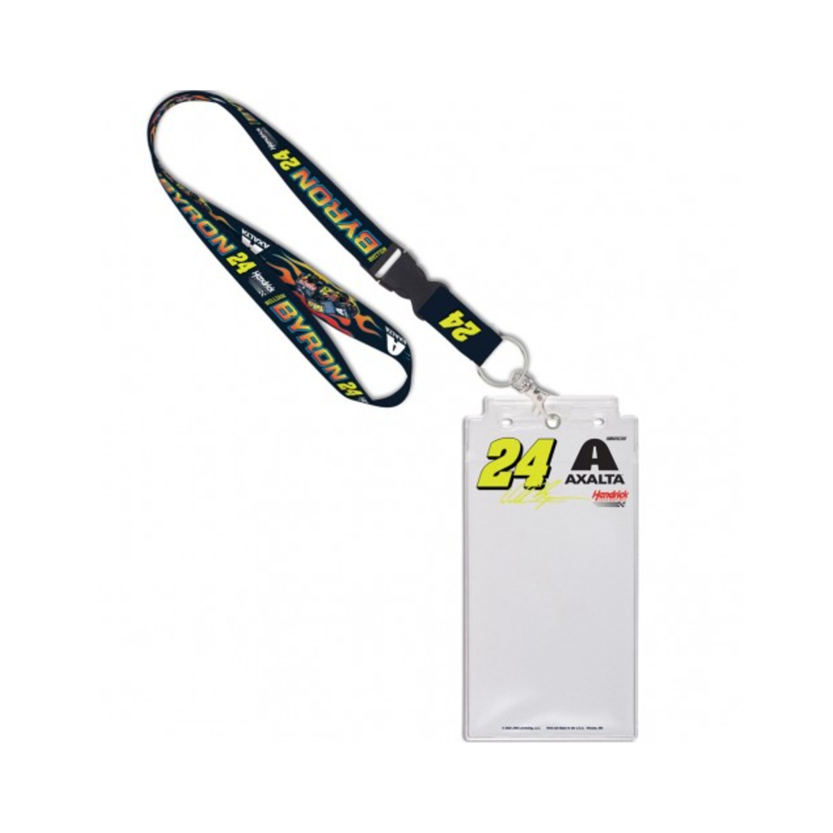 William Byron #24 2020 Axalta Credential Holder with Lanyard