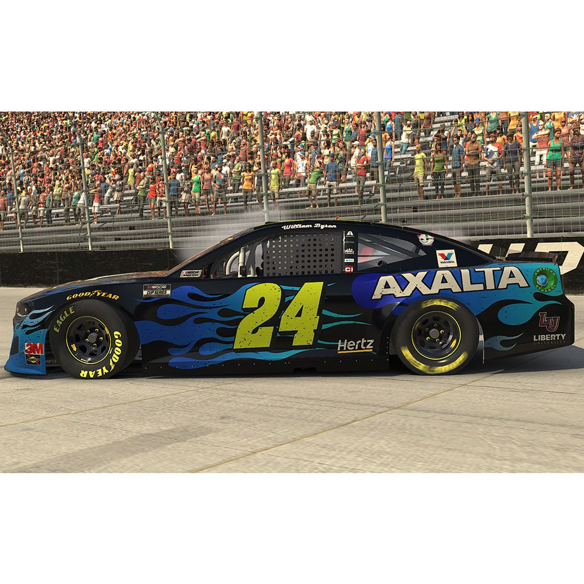 William Byron #24 2020 Axalta Bristol Motor Speedway iRacing WIN e-NASCAR Elite 1:24 - Die Cast