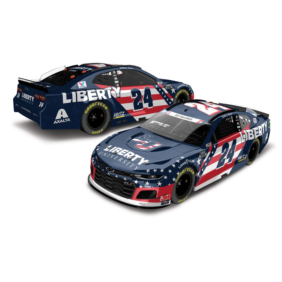 William Byron #24 2020 Liberty University Patriotic NASCAR HO 1:24 - Die Cast