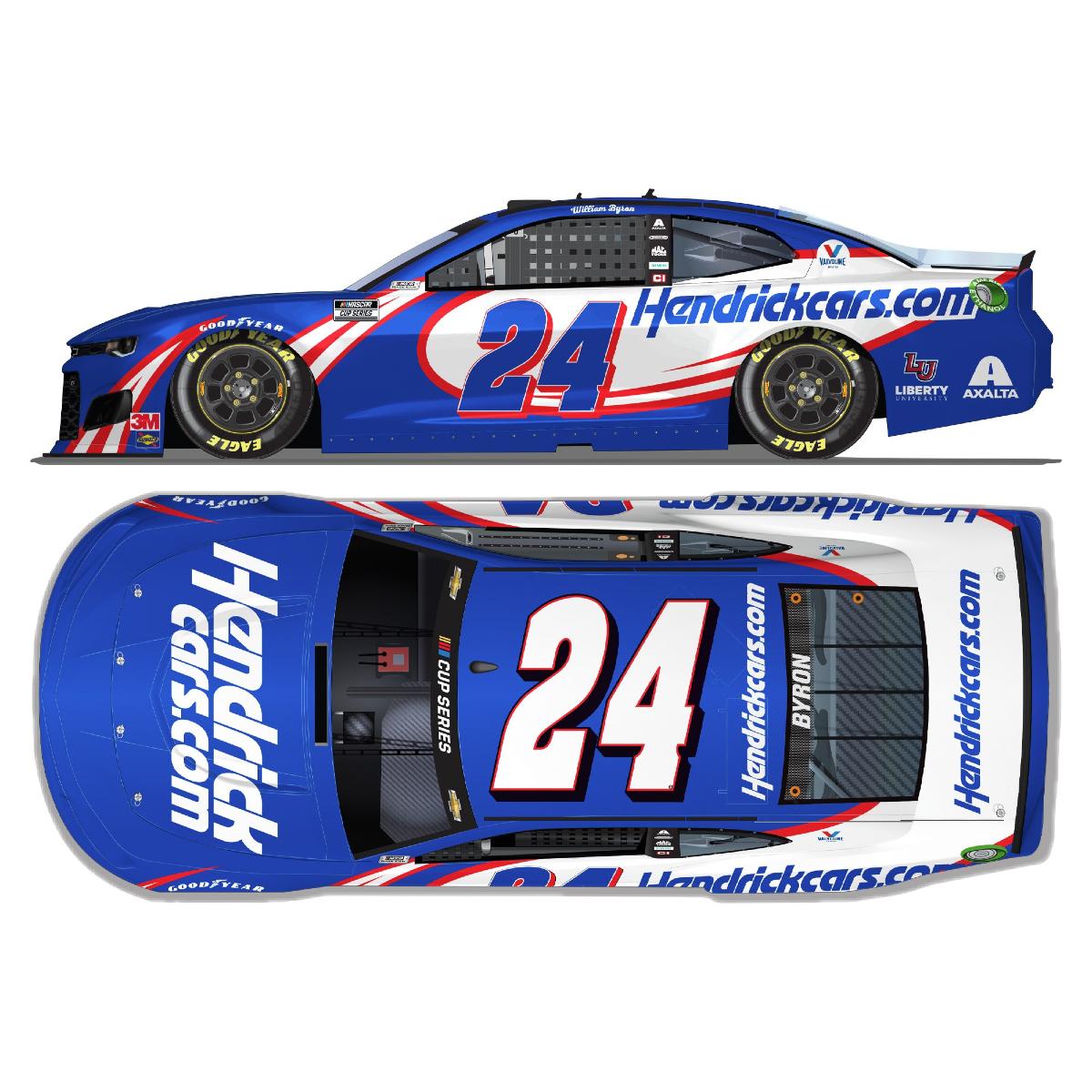 William Byron No. 24 HendrickCars.com Chevrolet 1:64 Die-Cast
