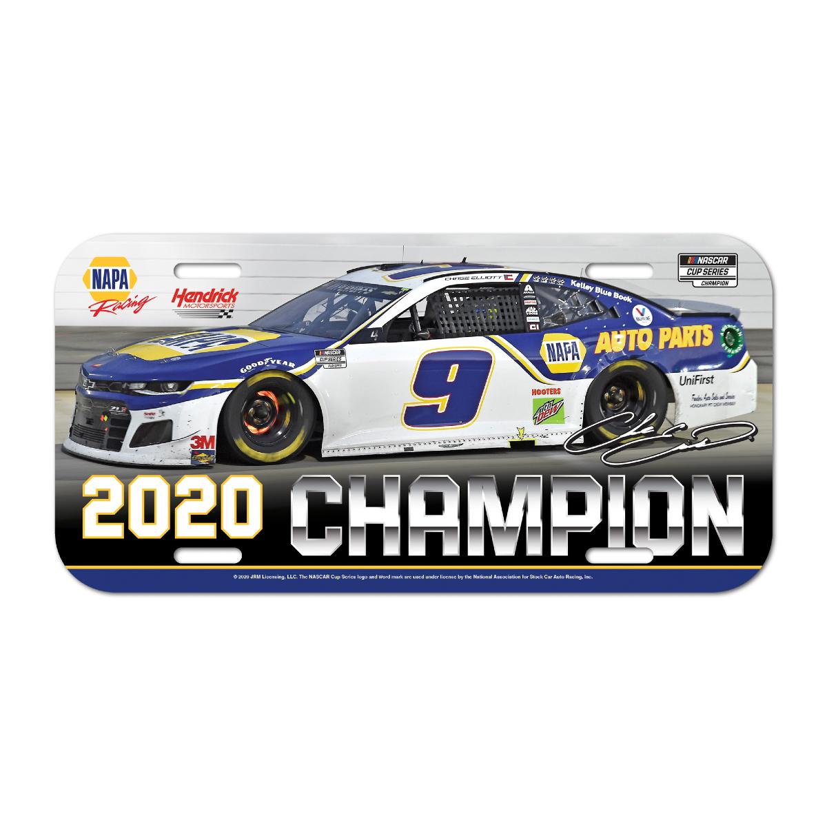 NASCAR 2020 Champion License Plate – Plastic